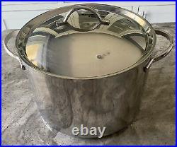 Revere Proline 1801 Stainless Steel Copper Core 8 Piece Set With Lids Pots Pans