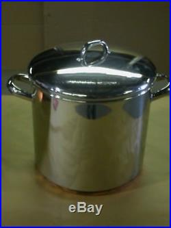 Revere Ware 12-QT Covered Stockpot Copper Clad Bottom Stainless Steel #3517320