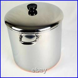 Revere Ware 12 Quart Stock Pot Lid, Stainless Steel, Copper Bottom Usa