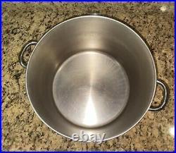 Revere Ware 1746 16 Qt Covered Stock Pot with Stainless Steel Handles With Box USA
