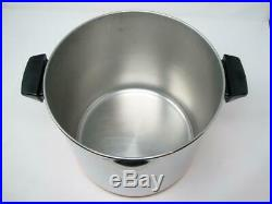 Revere Ware 1801 12 Quart Stainless Steel Copper Clad Stock Pot withLid EXCELLENT