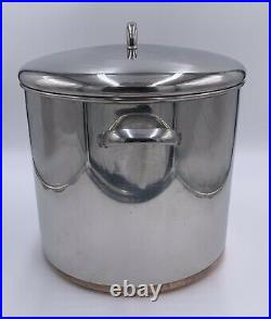 Revere Ware 20 Qt Stock Pot Lid Stainless Steel Copper Clad 1801 Clinton USA