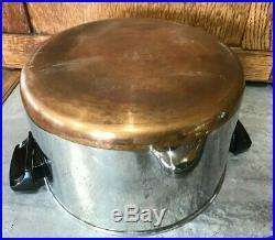 Revere Ware 6 QT 96h Stainless Steel Stock Pot Pan Steamer Insert Lid EUC USA