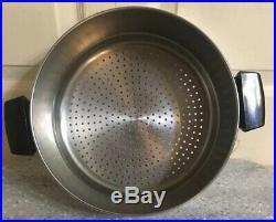 Revere Ware Copper Bottom 8 Qt Stock Pot Withsteamer Insert Pot Stainless Steel