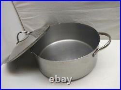 Revere Ware PRO-LINE Stainless 6 Qt Stock Pot Dutch Oven Roaster Saucepan Lid