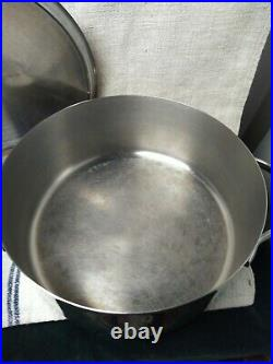 Revere Ware PRO-LINE Stainless 6 Qt Stock Pot Dutch Oven with Lid 6796 Proline
