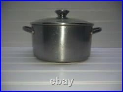 Revere Ware PRO-LINE Stainless Copper Core 4 Qt Stockpot Dutch Oven Roaster &Lid