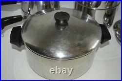 Revere Ware Stainless Steel 13pc. Disc Bottom Cookware Set with Lids