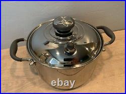 Royal Prestige 4 Quart 5 Ply Surgical Stainless Steel Stock Pot Excellent Cond