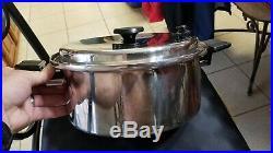 Royal Prestige 7 Ply SS Titanium Silver Alloy 11 Skillet & 6 Qt Stockpot w Lid