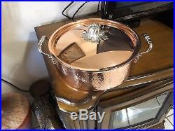 Ruffoni Opus Cupra Hammered Copper Braiser Pumpkin Knob 7.5 Qt