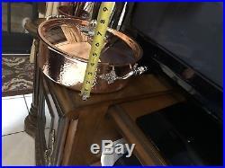 Ruffoni Opus Cupra Hammered Copper Braiser Pumpkin Knob 7 Qt