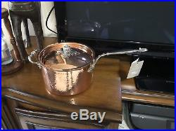 Ruffoni Opus Cupra Hammered Copper Saucepan 4 Qt