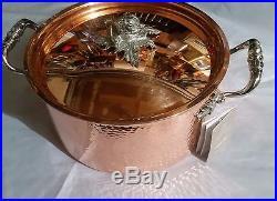 Ruffoni Opus Cupra Stockpot Copper + stainless steel 6qt. NEW