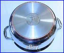 Ruffoni Vitruvius 8 quart stock pot, copper + polished stainless steel (unused)