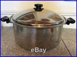 SALADMASTER 16 QT ROASTER STOCK POT TP304-316 SURGICAL STAINLESS STEEL & LID