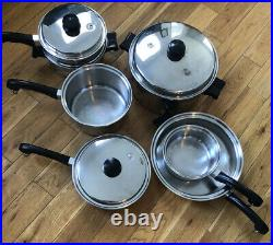SALADMASTER 18-8 Tri-Clad Stainless Steel Cookware Set 10 Pieces