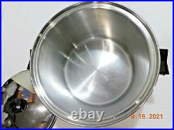 SALADMASTER 5 STAR 10 QT STOCK POT 5PLY TP304S STAINLESS STEEL Waterless Cookwre