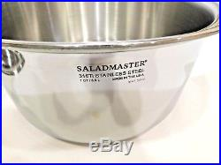 SALADMASTER 7 QUART STOCK POT 316Ti TITANIUM STAINLESS STEEL WATERLESS USA