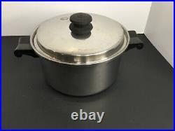 SALADMASTER Stainless Steel Cookware Set 8 Pieces 1 Qt 2 Qt 4 Qt 7 Qt Pans Pots