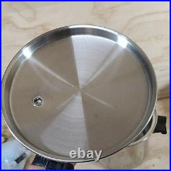 SALADMASTER T304S 10 QT STOCK POT & LID Stainless Steel COOKWARE