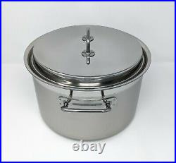 SILGA 28cm (11 in) Stainless Steel Pot, 10L (10.6qt) High Casserole with Lid NEW
