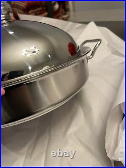 SILGA TEKNIKA Stainless Steel Braiser with Dome Lid 32cm (12.5 in) Pot New