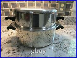 SaladMaster 5QT Five Star TP304S Stainless Dutch Oven Stock Pot Roaster Dome Lid