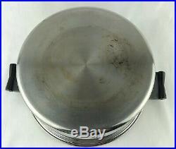 SaladmasterT304S 6 Quart Stainless Steel Stock Pot / Dutch Oven with VAPO Lid