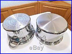 Saladmaster 10 Qt Roaster Stock Pot & Steamer 7 Ply 316 Surgical Stainless