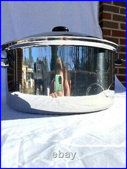 Saladmaster 16 Qt Roaster Stock Pot Tp304-316l System 7 Ply Stainless Steel