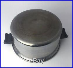 Saladmaster 18-8 Stainless Steel 11 Inch 6 Quart Dutch Oven Stock Pot + Vapo Lid
