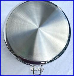 Saladmaster 316Ti 5 Quart Roaster Stock Pot Pan Titanium Stainless Steel