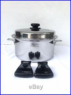 Saladmaster 316Ti 7 Quart Stock Pot Titanium Stainless Steel Vapo Lid Soup