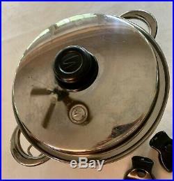Saladmaster 316ti Surgical Stainless 10 Quarts Insert Stock Pot Cookware 5 Pcs