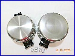 Saladmaster 3 Qt Mini Stock Pot & Double Boiler 18-8 Stainless Steel