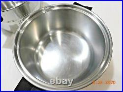 Saladmaster 4 Qt Mini Stock Pot & Steamer 18-8 Stainless Steel