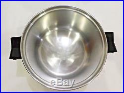 Saladmaster 4qt Mini Stock Pot 18-8 Tri Clad Stainless Steel Very Nice Condition