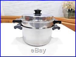 Saladmaster 4qt Stock Pot Steamer 18 8 Tri Clad Stainless Steel Waterless Cookwr