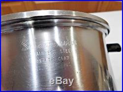 Saladmaster 4qt Stock Pot Steamer 18-8 Tri Clad Stainless Steel Waterless Cookwr