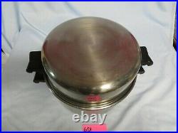 Saladmaster 6 Qt Dutch Oven Sauce Stock Pot Stainless Steel W Dome LID T-304s