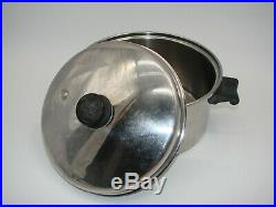Saladmaster 6qt Stock Pot 18-8 Tri Clad Stainless Steel With Vpr LID Made In USA