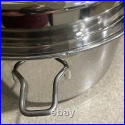 Saladmaster HS-316Ti-Titanium stainless steel. 7 Qt Roaster Stock Pot Pan. USA
