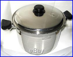 Saladmaster Jumbo 12 qt waterless STOCK POT T304S Stainless Steel with Vent Lid
