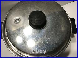 Saladmaster Multi-Ply Stainless 3 Qt Saucepan Stockpot Dutch Oven Casserole Lid