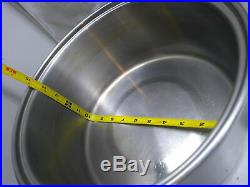 Saladmaster Stainless Steel 6.5 Qt Stock Bean Sauce Pot Dutch Oven with Lid