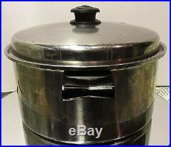 Saladmaster Stainless Steel Tri-clad 6 Quart Stock Pot Kettle Cookware Vapo LID