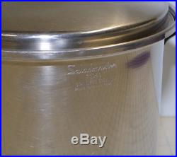 Saladmaster T304S 10 Qt Quart Stainless Steel Stock Pot with Vapo Lid
