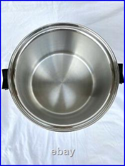 Saladmaster T304S 12 Quart Stock Pot Stainless Steel Waterless Cookware Large
