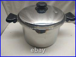 Saladmaster T304S Surgical Stainless 8 Qt Stockpot Dutch Oven Roasting Pan Lid